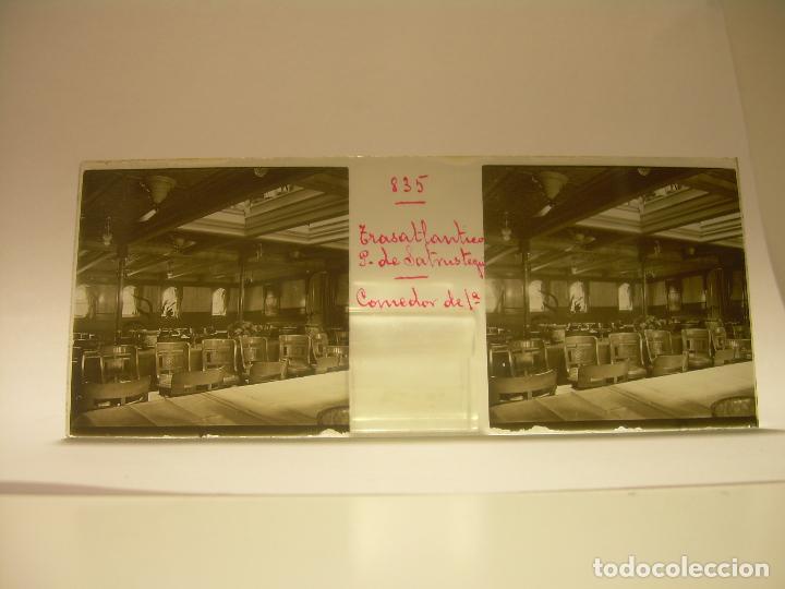 Fotografía antigua: INTERESANTE CRISTALES ESTEREOSCOPICOS....BUQUES BARCOS PUERTO DE BARCELONA.....TOTAL 13 UDS. CA 1909 - Foto 24 - 88919348