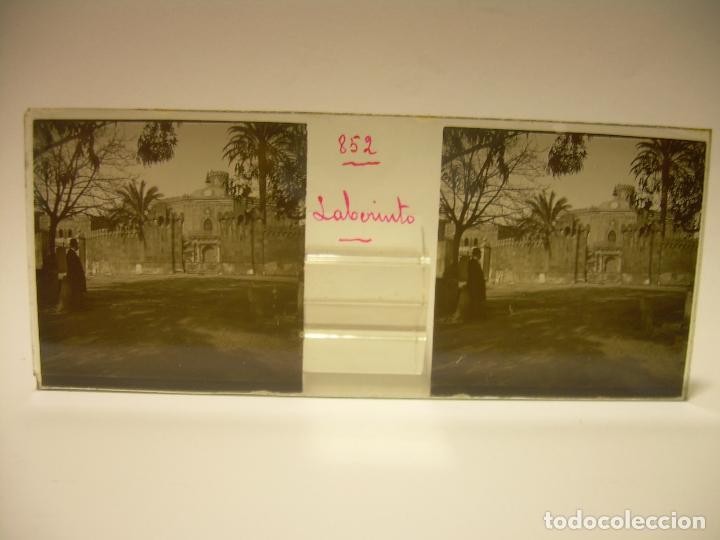 Fotografía antigua: ALREDEDORES DE BARCELONA,FUNICULAR, VALLVIDRERA LABERINTO HORTA 23 CRISTAL ESTREOSCOPICO- CA.1910 - Foto 14 - 89093603