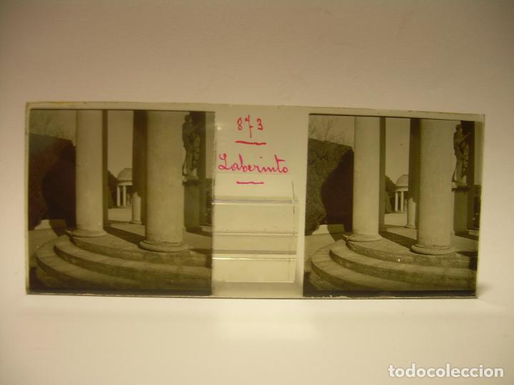 Fotografía antigua: ALREDEDORES DE BARCELONA,FUNICULAR, VALLVIDRERA LABERINTO HORTA 23 CRISTAL ESTREOSCOPICO- CA.1910 - Foto 15 - 89093603