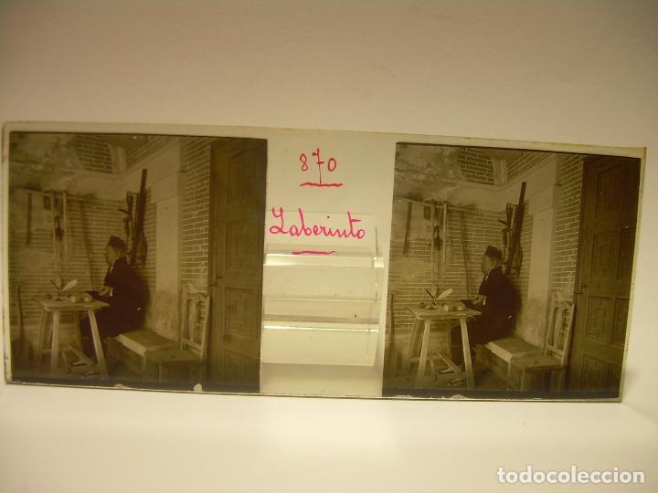 Fotografía antigua: ALREDEDORES DE BARCELONA,FUNICULAR, VALLVIDRERA LABERINTO HORTA 23 CRISTAL ESTREOSCOPICO- CA.1910 - Foto 17 - 89093603