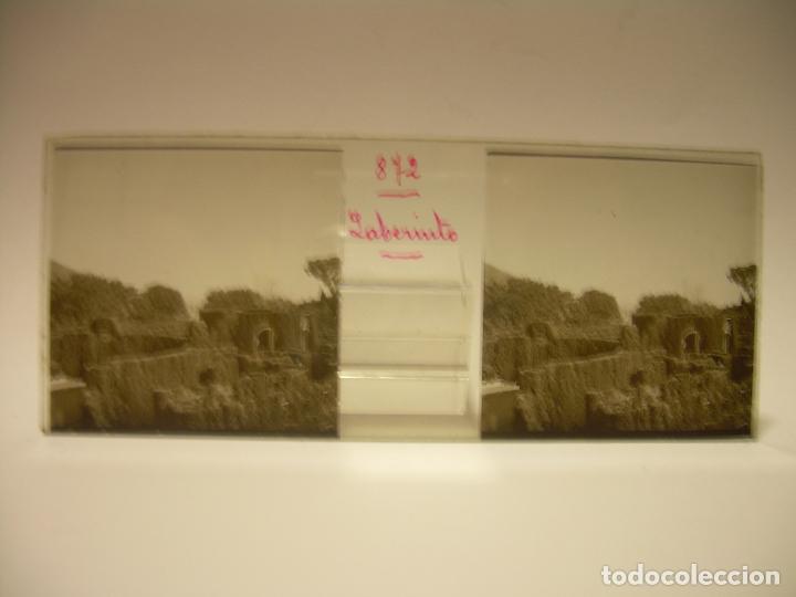 Fotografía antigua: ALREDEDORES DE BARCELONA,FUNICULAR, VALLVIDRERA LABERINTO HORTA 23 CRISTAL ESTREOSCOPICO- CA.1910 - Foto 18 - 89093603