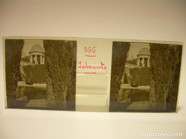 Fotografía antigua: ALREDEDORES DE BARCELONA,FUNICULAR, VALLVIDRERA LABERINTO HORTA 23 CRISTAL ESTREOSCOPICO- CA.1910 - Foto 21 - 89093603