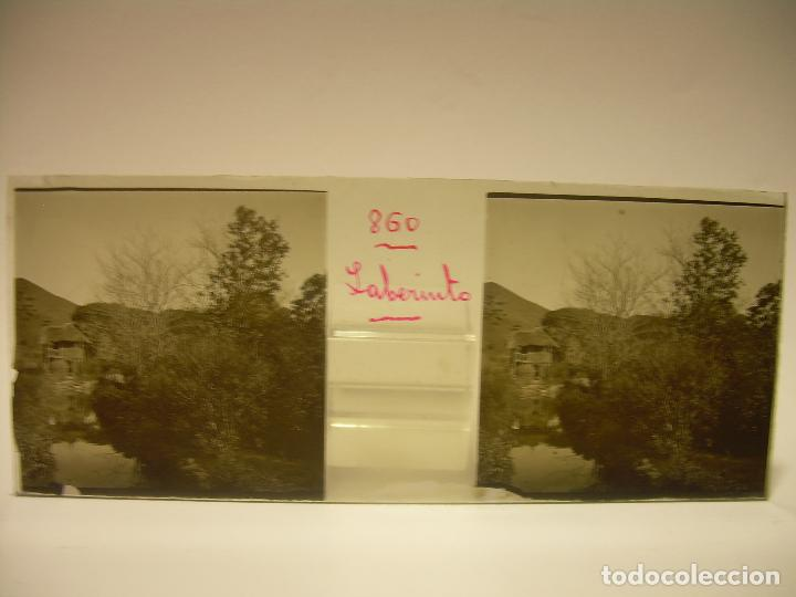Fotografía antigua: ALREDEDORES DE BARCELONA,FUNICULAR, VALLVIDRERA LABERINTO HORTA 23 CRISTAL ESTREOSCOPICO- CA.1910 - Foto 22 - 89093603