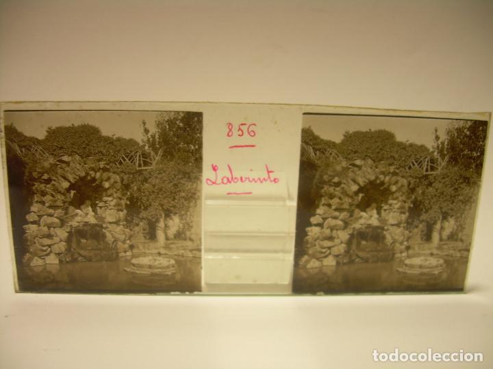 Fotografía antigua: ALREDEDORES DE BARCELONA,FUNICULAR, VALLVIDRERA LABERINTO HORTA 23 CRISTAL ESTREOSCOPICO- CA.1910 - Foto 23 - 89093603