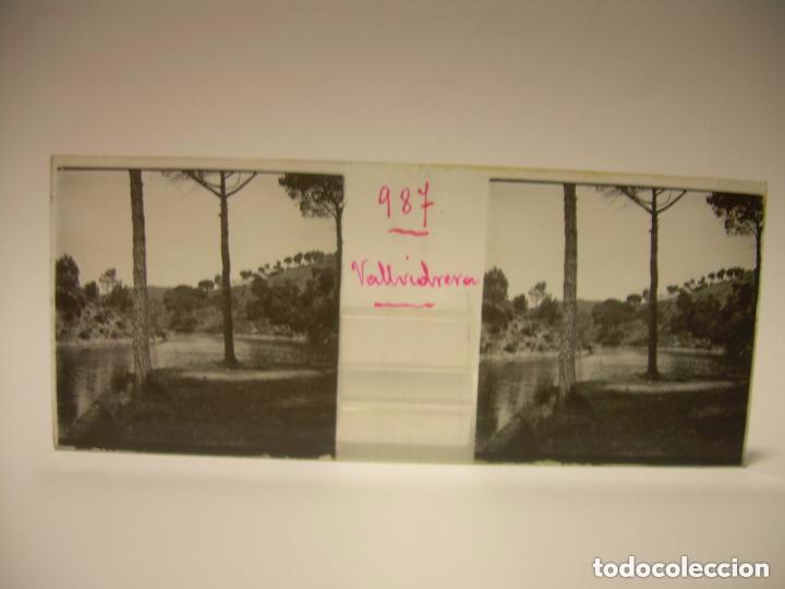 ALREDEDORES DE BARCELONA,FUNICULAR, VALLVIDRERA LABERINTO HORTA 23 CRISTAL ESTREOSCOPICO- CA.1910 (Fotografía Antigua - Estereoscópicas)