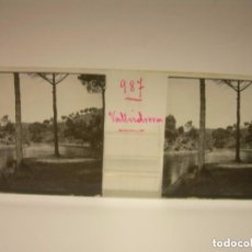 Fotografía antigua: ALREDEDORES DE BARCELONA,FUNICULAR, VALLVIDRERA LABERINTO HORTA 23 CRISTAL ESTREOSCOPICO- CA.1910. Lote 89093603