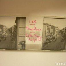Fotografía antigua: BARCELONA,CALLE MAYOR DE GRACIA - FOTO ANTIGUA CRISTAL ESTEREOSCOPICO- CIRCA 1900. Lote 89095456