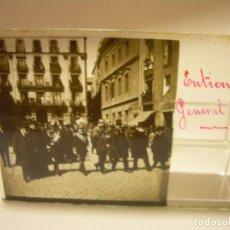 Fotografía antigua: GENERAL BLANCO (1.833-1906) ENTIERRO- CAPITÁN GENERAL CATALUÑA -4 CRISTAL ESTEREOSCOPICO AÑO 1.906. Lote 89095732