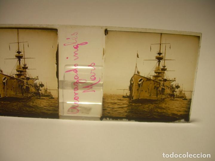Fotografía antigua: DIEZ CRISTALES ESTEREOSCOPICOS..BARCELONA....TEMA BUQUES..CA.1.905 - Foto 5 - 89103388