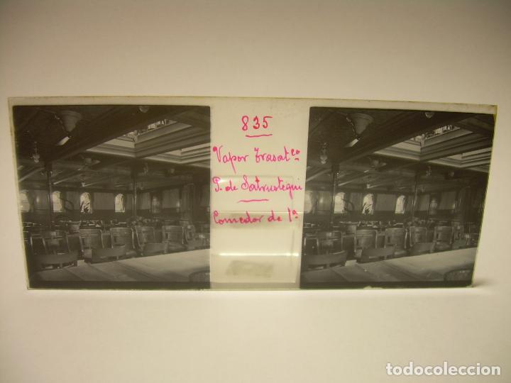 Fotografía antigua: DIEZ CRISTALES ESTEREOSCOPICOS..BARCELONA....TEMA BUQUES..CA.1.905 - Foto 8 - 89103388