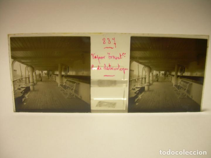 Fotografía antigua: DIEZ CRISTALES ESTEREOSCOPICOS..BARCELONA....TEMA BUQUES..CA.1.905 - Foto 12 - 89103388