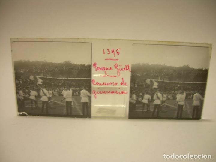 Fotografía antigua: BARCELONA,PARQUE GUELL- CONCURSO DE GIMNASIA - 6 CRISTAL ESTEREOSCOPICO- CA.1.900 - Foto 4 - 89104004