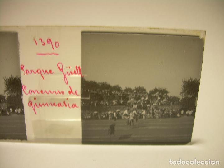 Fotografía antigua: BARCELONA,PARQUE GUELL- CONCURSO DE GIMNASIA - 6 CRISTAL ESTEREOSCOPICO- CA.1.900 - Foto 11 - 89104004