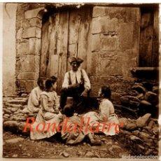 Fotografía antigua: L'AVI RONDALLAIRE - 1907 - POSITIU DE VIDRE. Lote 89175624
