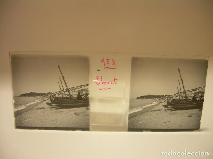 Fotografía antigua: COSTA CATALUÑA, TOSSA DE MAR- LLORET - BLANES -VILLA NUEVA 24 CRISTAL ESTEREOSCOPICO - CA. 1.900 - Foto 2 - 89185272