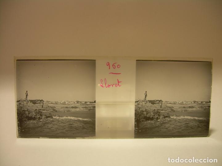 Fotografía antigua: COSTA CATALUÑA, TOSSA DE MAR- LLORET - BLANES -VILLA NUEVA 24 CRISTAL ESTEREOSCOPICO - CA. 1.900 - Foto 9 - 89185272