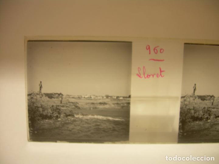 Fotografía antigua: COSTA CATALUÑA, TOSSA DE MAR- LLORET - BLANES -VILLA NUEVA 24 CRISTAL ESTEREOSCOPICO - CA. 1.900 - Foto 10 - 89185272