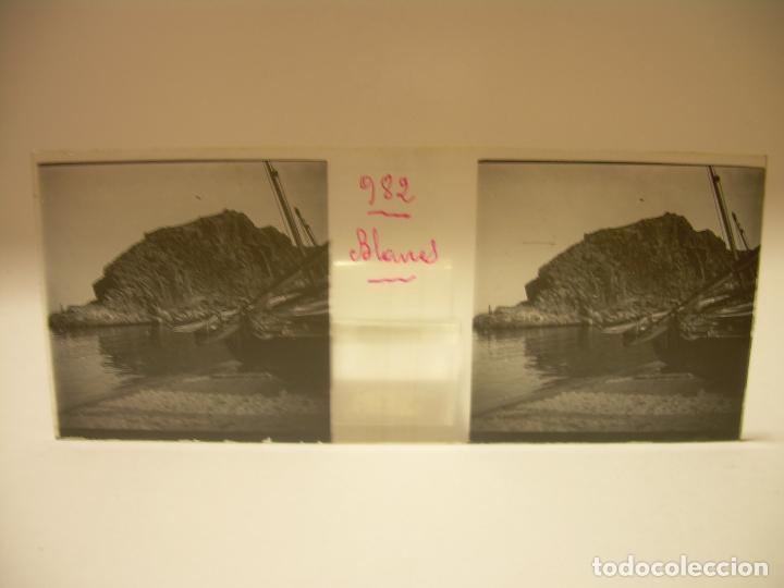 Fotografía antigua: COSTA CATALUÑA, TOSSA DE MAR- LLORET - BLANES -VILLA NUEVA 24 CRISTAL ESTEREOSCOPICO - CA. 1.900 - Foto 13 - 89185272