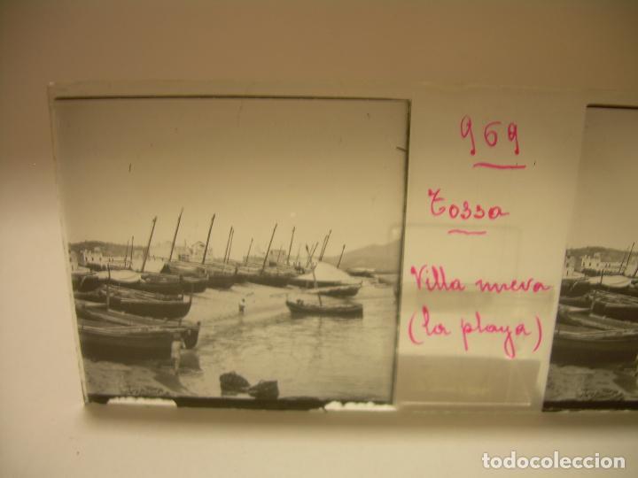 Fotografía antigua: COSTA CATALUÑA, TOSSA DE MAR- LLORET - BLANES -VILLA NUEVA 24 CRISTAL ESTEREOSCOPICO - CA. 1.900 - Foto 19 - 89185272
