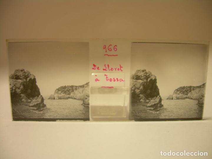 Fotografía antigua: COSTA CATALUÑA, TOSSA DE MAR- LLORET - BLANES -VILLA NUEVA 24 CRISTAL ESTEREOSCOPICO - CA. 1.900 - Foto 24 - 89185272