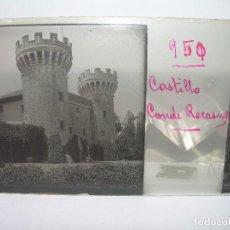 Fotografía antigua: PERELADA- CASTILLO DEL CONDE DE RECASENS- 13 CRISTAL ESTEREOSCOPICO- CIRCA 1.900. Lote 89218044
