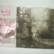 Fotografía antigua: SEIS CRISTALES ESTEREOSCOPICOS.....MONTSENY..TEMA RETRATOS DE NIÑOS...CIRCA 1.900. Lote 89226656