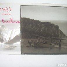 Fotografía antigua: COSTA CATALUÑA-STA.CRISTINA.BLANES.TOSSA.CASTELLO AMPURIAS-CAJETIN 25 CRISTAL ESTEREOCOPICO-CA.1.900. Lote 89309044