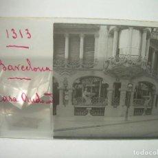 Fotografía antigua: CASA AUDOUARD ARQUITECTO LLUIS DOMENECH I MONTANER.- CRISTAL ESTEREOSCOPICO- CA1905. Lote 89318768