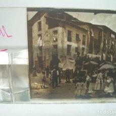 Fotografía antigua: RIPOLL,CATALUNYA- CUATRO CRISTAL ESTEREOSCOPICO-PERSONAJES DE ÉPOCA- CIRCA..1.900. Lote 89395756