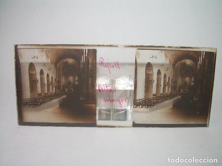 Fotografía antigua: RIPOLL,CATALUNYA- CUATRO CRISTAL ESTEREOSCOPICO-PERSONAJES DE ÉPOCA- CIRCA..1.900 - Foto 3 - 89395756