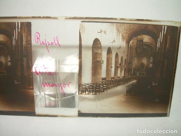 Fotografía antigua: RIPOLL,CATALUNYA- CUATRO CRISTAL ESTEREOSCOPICO-PERSONAJES DE ÉPOCA- CIRCA..1.900 - Foto 4 - 89395756