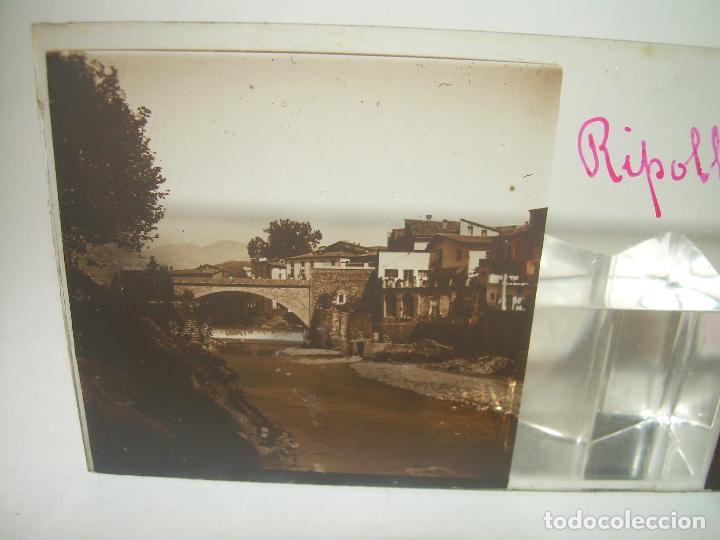 Fotografía antigua: RIPOLL,CATALUNYA- CUATRO CRISTAL ESTEREOSCOPICO-PERSONAJES DE ÉPOCA- CIRCA..1.900 - Foto 5 - 89395756