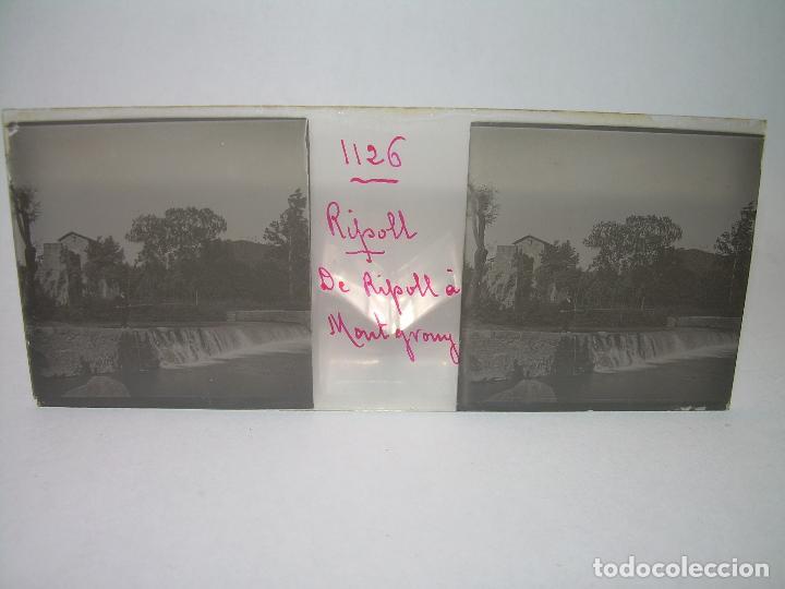 Fotografía antigua: RIPOLL,CATALUNYA- CUATRO CRISTAL ESTEREOSCOPICO-PERSONAJES DE ÉPOCA- CIRCA..1.900 - Foto 7 - 89395756