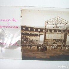 Fotografía antigua: BARCELONA,PLAZA DE TOROS LAS ARENAS ESPECTÁCULO TAURINO- CRISTAL ESTEREOSCOPICO-CIRCA. 1.900. Lote 89429596