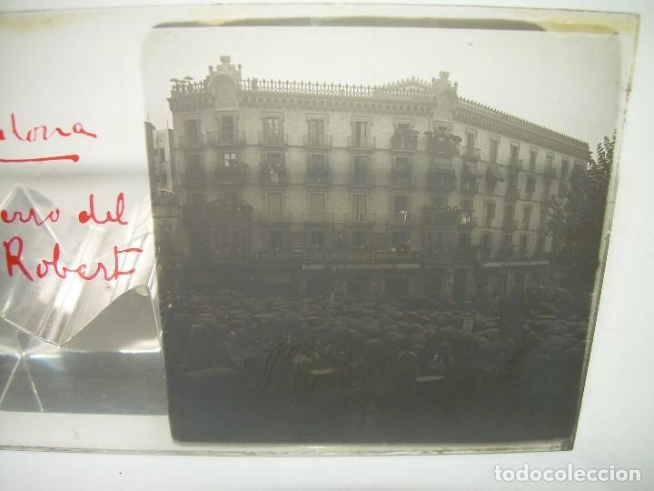BARCELONA,ENTIERRO DR. ROBERT ALCALDE DE BARCELONA-CRISTAL ESTEREOSCOPICO- 1.902 (Fotografía Antigua - Estereoscópicas)