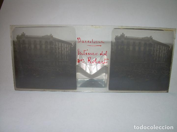 Fotografía antigua: BARCELONA,ENTIERRO DR. ROBERT ALCALDE DE BARCELONA-CRISTAL ESTEREOSCOPICO- 1.902 - Foto 2 - 89453152