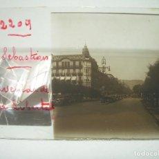 Fotografía antigua: SAN SEBASTIAN,FOTOGRAFIA ANTIGUA-CUATRO CRISTALES ESTEREOSCOPICOS-CIRCA..1.900. Lote 89453984