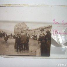 Fotografía antigua: LA ROCA DE CANALDA,PIRINEOS-ESCENA COSTUMBRISTA-CRISTAL ESTEREOSCOPICO- CIRCA. 1.900. Lote 89518124