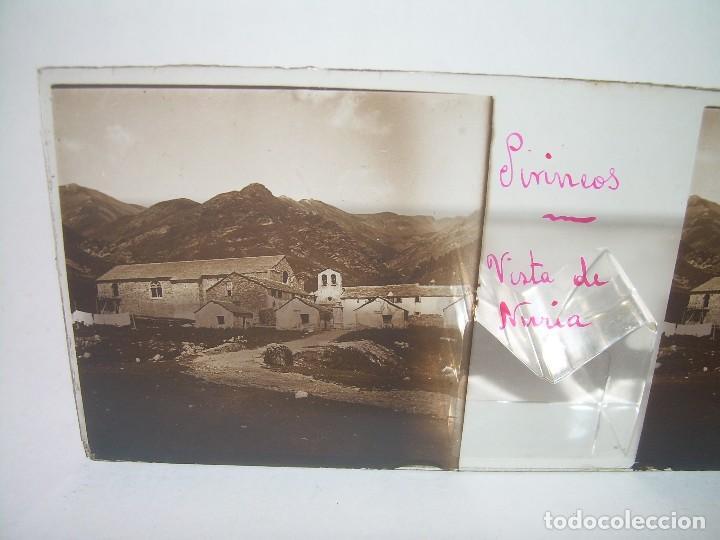 CRISTALES DE NURIA (PIRINEOS)....TOTAL. 8....CIRCA 1.900 (Fotografía Antigua - Estereoscópicas)