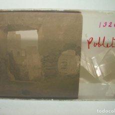 Fotografía antigua: TRES CRISTALES ESTEREOSCOPICOS.......POBLET... (ANTES DE SER RECONSTRUIDO).......CIRCA. 1.900. Lote 89666048
