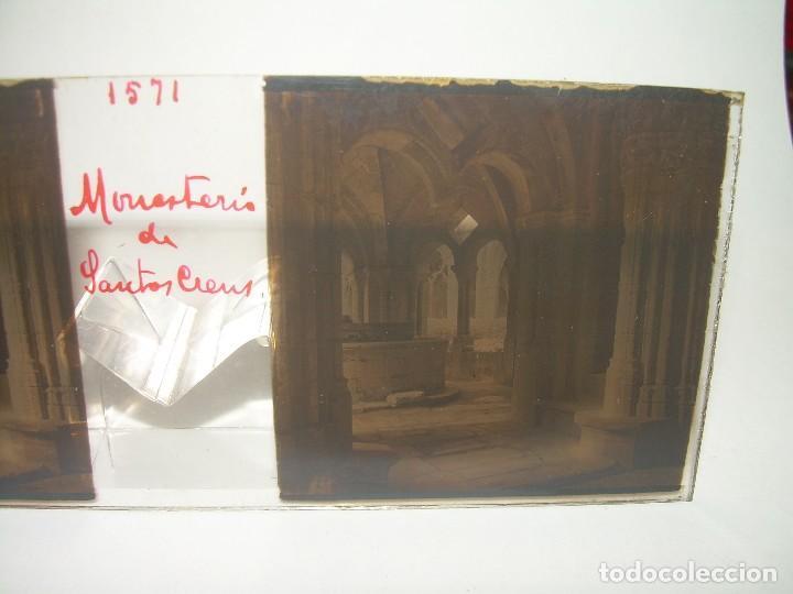 TRES CRISTALES ESTEREOSCOPICOS.......SANTAS CREUS.......CIRCA. 1.900 (Fotografía Antigua - Estereoscópicas)