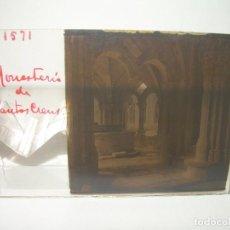 Fotografía antigua: TRES CRISTALES ESTEREOSCOPICOS.......SANTAS CREUS.......CIRCA. 1.900. Lote 89666368