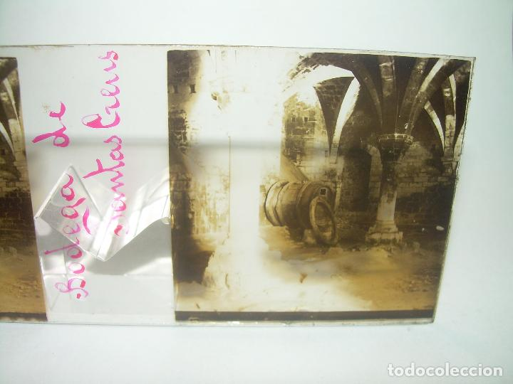 Fotografía antigua: TRES CRISTALES ESTEREOSCOPICOS.......SANTAS CREUS.......CIRCA. 1.900 - Foto 5 - 89666368