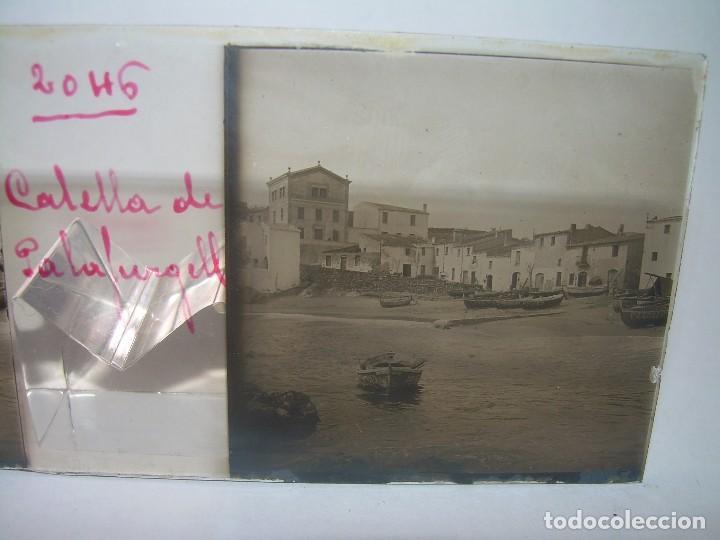 CUATRO CRISTALES ESTEREOSCOPICOS......CALELLA DE PALAFRUGELL.....CIRCA...1.900 (Fotografía Antigua - Estereoscópicas)