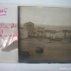 Fotografía antigua: CUATRO CRISTALES ESTEREOSCOPICOS......CALELLA DE PALAFRUGELL.....CIRCA...1.900. Lote 89682876