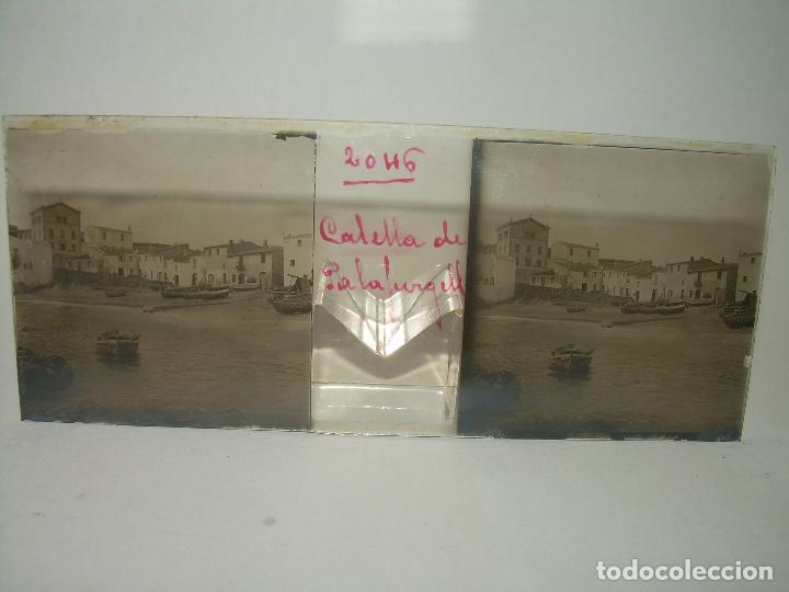 Fotografía antigua: CUATRO CRISTALES ESTEREOSCOPICOS......CALELLA DE PALAFRUGELL.....CIRCA...1.900 - Foto 2 - 89682876