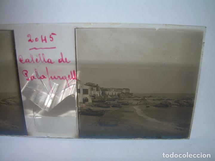 Fotografía antigua: CUATRO CRISTALES ESTEREOSCOPICOS......CALELLA DE PALAFRUGELL.....CIRCA...1.900 - Foto 3 - 89682876