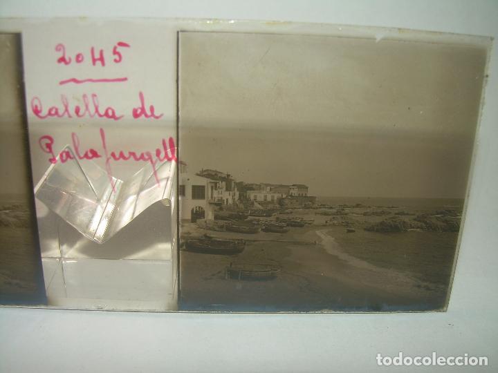 Fotografía antigua: CUATRO CRISTALES ESTEREOSCOPICOS......CALELLA DE PALAFRUGELL.....CIRCA...1.900 - Foto 4 - 89682876