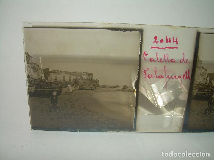 Fotografía antigua: CUATRO CRISTALES ESTEREOSCOPICOS......CALELLA DE PALAFRUGELL.....CIRCA...1.900 - Foto 5 - 89682876