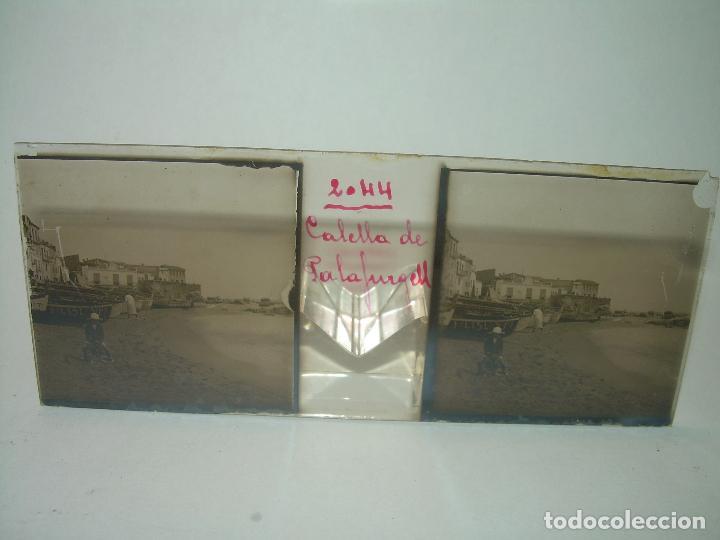 Fotografía antigua: CUATRO CRISTALES ESTEREOSCOPICOS......CALELLA DE PALAFRUGELL.....CIRCA...1.900 - Foto 6 - 89682876